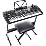 Alesis Melody 61 Beginner Bundle | 61-Key Portable Keyboard with Stand, Bench, Headphones, and Microphone