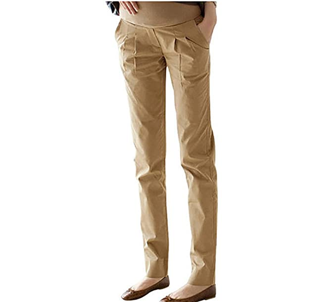 Secura Pantalones Harem para Mujeres Embarazadas - Pantalones Ajustables para Maternidad Algodón Casual Plus Szie Pantalones