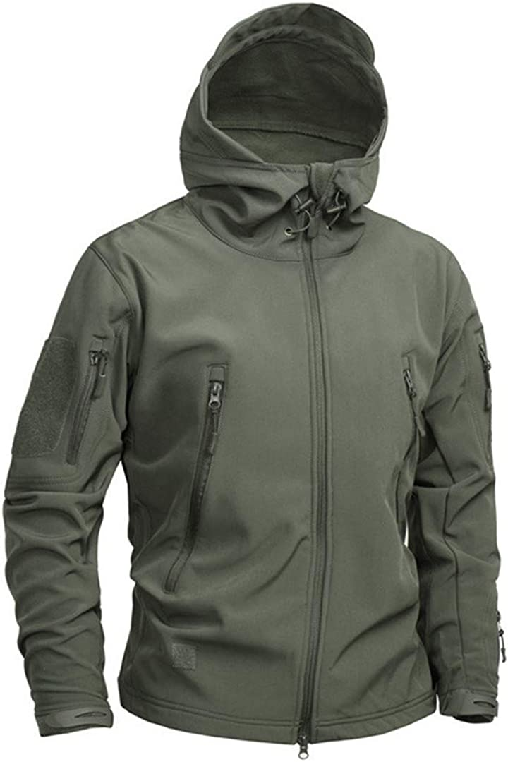 Nanshijiake Military Tactical Sharkskin Softshell Autumn Winter Camouflage Fleece Coat