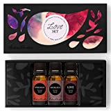 Love Set/ Kit- 100% Pure Therapeutic Grade Aromatherapy Oils- 3/ 10 ml of Aphrodisiac, Aromance and Love Synergy Blends by Edens Garden …