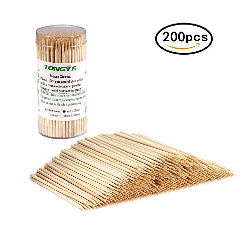 Foods Cocktail (Premium Natural BBQ Bamboo Skewers for Shish Kabob, Grill, Appetizer, Fruit, Corn, Chocolate Fountain, Cocktail and More Food, More Size Choices 4