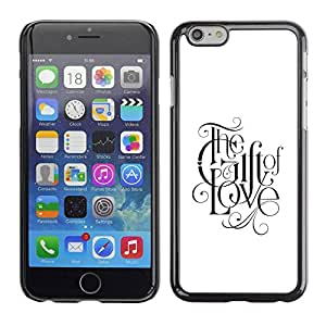 PC/Aluminum Funda Carcasa protectora para Apple Iphone 6 Plus 5.5 faith god love faith white black text / JUSTGO PHONE PROTECTOR