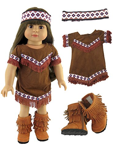 Native American Outfit with Cute Fringe Boots | Fits 18