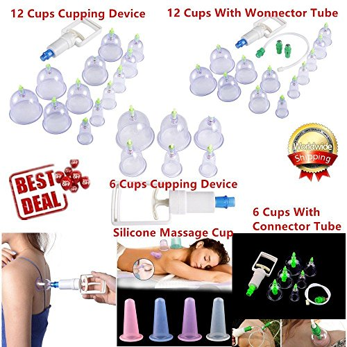 12 PEICES VACUUM CUPPING SET MAGNETIC ACUPUNCTURE THERAPY APPARATUS SUCTION - Shape Analyzer Face