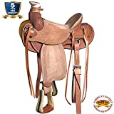 HILASON Western Horse Wade Saddle 15 16 in Leather Ranch Roping Tan