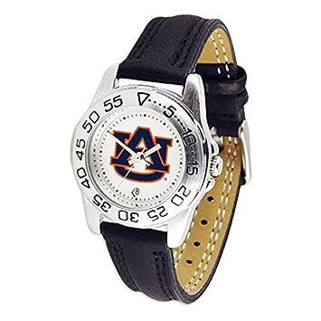 Auburn University Tigers AU NCAA Womens Leather Wrist Watch by SunTime