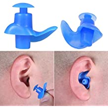 Ikevan Hot Selling 2017 New Spiral Silicone Swimming Diving Screw Swimming Waterproof Earplugs for Adults (Bule)