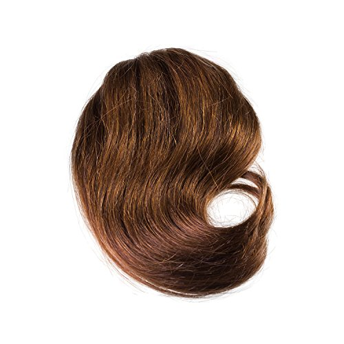 Price comparison product image Sono 1 Count 100% Human Hair Straight Across Clip-In Bang Extensions, #4 Dark Brown