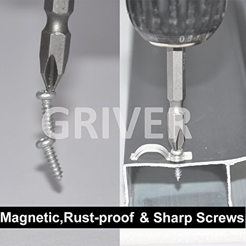 Large Product Image of Griver 100 Pack Strip Light Mounting Brackets,Fixing Clips,One-Side Fixing,100 Screws Included (Ideal for 10mm Wide Waterproof Strip Lights)