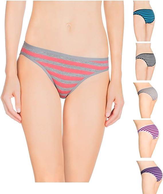 Nabtos - Bragas de algodón para mujer (6 unidades) - Multi color - Small: Amazon.es: Ropa y accesorios