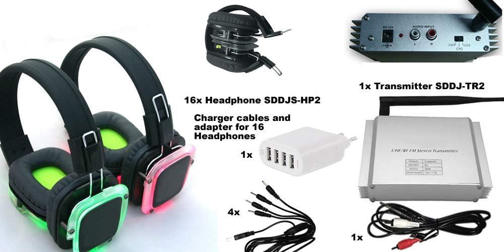 Silent Disco Sddjs Hp2 Set Of 16 Headphones And 1 Elektronik