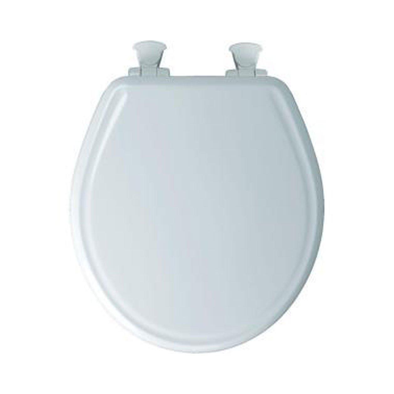 Bemis 600E3 346 Adjustable StaTite Round-front Toilet Seat with Whisper Close, Linen