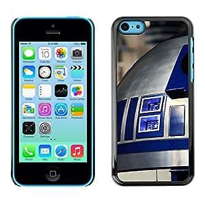 // PHONE CASE GIFT // Duro Estuche protector PC Cáscara Plástico Carcasa Funda Hard Protective Case for iPhone 5C / R2D2 /