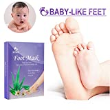 Exfoliating Foot Peeling Mask Booties Dead Skin Remover Callus Remover for Feet Soft Touch Feet Foot Peel Socks Rouch Skin Repair for Feet 2 Pair Pack