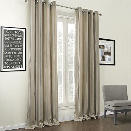 IYUEGO Classic Stripe Jacquard Cotton Linen Blend Eco-friendly Grommet Top Window Curtains/Drape/Panels/Treatment With Multi Size Custom 100