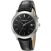 Raymond Weil Men's 'Maestro' Swiss Automatic Stainless Steel and Leather Casual Watch