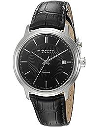 Raymond Weil Men's 2237-STC-20001 Maestro Analog Display Swiss Automatic Black Watch