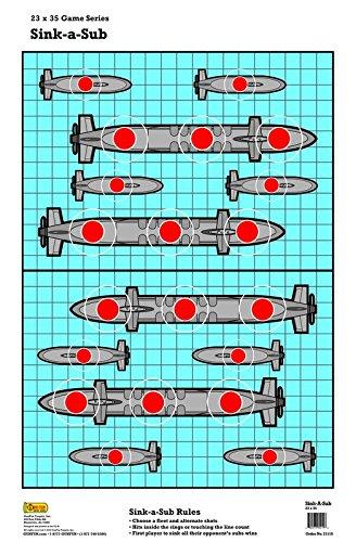 25 Sink-A-Sub Battleship Paper Shooting Target 23