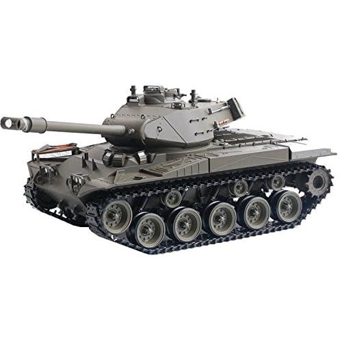 Char radiocommandé / télécommandé M41A3 Bulldog / Tank / Fumée / Sons / Engrenages en Métal