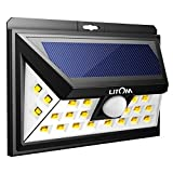 LITOM Solar Lights, 24 LED Motion Sensor Solar Lights Outdoor, Warm Light Super Bright Wide Angle Security Light for Front Door, Yard, Garage, Deck, Porch, Shed, Walkway, Fence