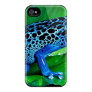 Durable Blue Frog Back Case/cover For Iphone 4/4s