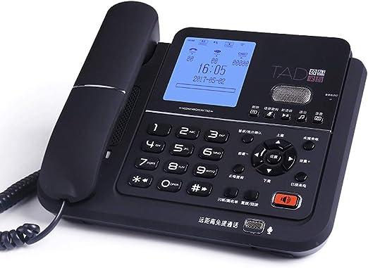 ZHENYANG Teléfono, Oficina Familiar Familiar Vintage inalámbrico inalámbrico Fijo Fijo. teléfono (Color : Black): Amazon.es: Hogar