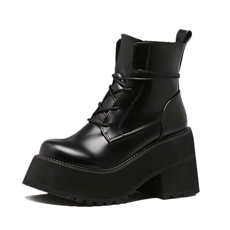Amazon.com: SHANGWU - Botas de invierno para mujer, tobillo ...