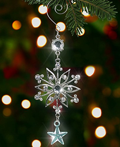 Silver Snowflake Ornament Christmas Decoration product image