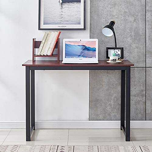 nozama Computer Desk for Home Office 47 Writing Study Desk Modern Simple Style Laptop Table Red