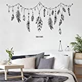 Wall Sticker, Yezijin DIY Feather Ink Painting Removable Wall Decal Family Home Sticker Mural Art Home Decor