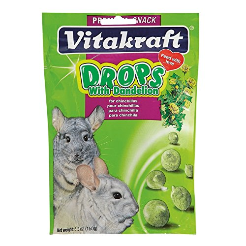 Vitakraft Chinchilla Drops with Dandelion Treat, 5.3 Ounce Pouch