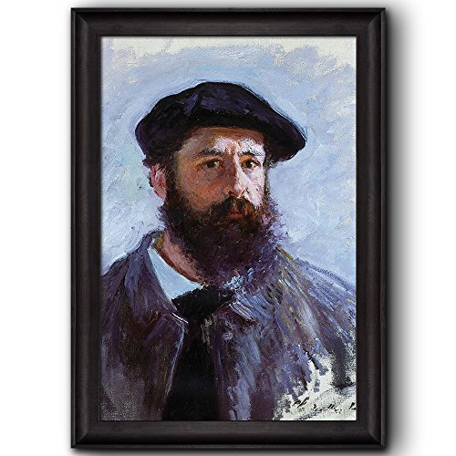 Self Portrait with a Beret 1886 by Claude Monet Framed Art