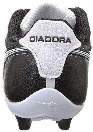 Diadora Kids' Cattura MD Jr Soccer Shoe, Black/White, 11 M US Little Kid by Diadora (Image #2)