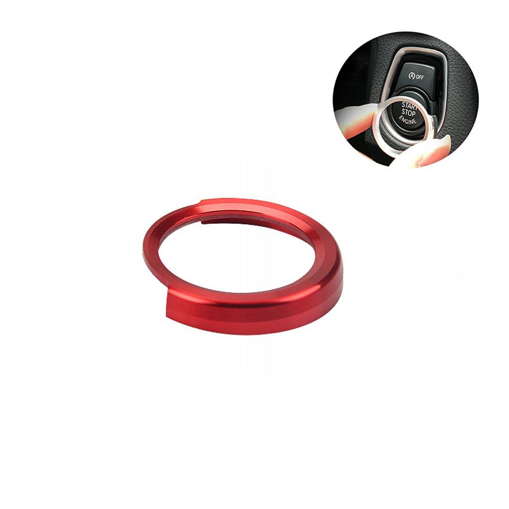 CARGOOL Pulsante di avvio Coperchio di protezione in lega di alluminio Anello di protezione, rosso