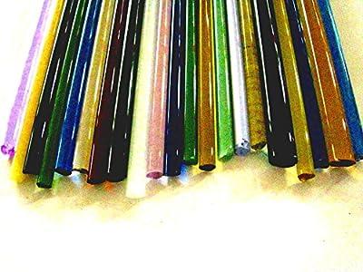 Devardi Glass Boro Rods, COE 33, Mixed Colors, 5 lbs borosilicate solid glass rods