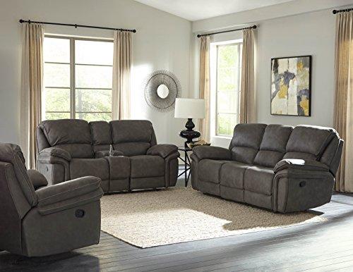 Bradford Living KPI001set11 Atlantic Living Room, Power Sofa Set, Gray
