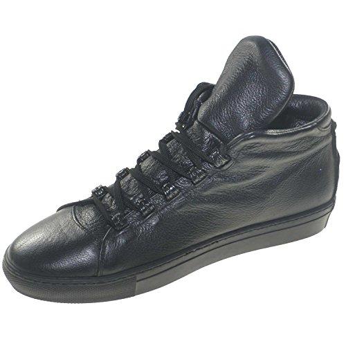 Nero Alta Scarpe Bottolato In Linea Con Pelle Moda Linguetta Bassa Sport Sneakers Uomo 1qXFz