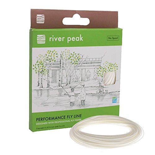 river peak FLY LINE DT 6 F #6 Double Taper Floating 100ft(30.5m) (White) Review