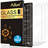Ailun Screen Protector for iPhone 5S,iPhone SE iPhone 5,iPhone 5c[3Pack],2.5D Edge Tempered Glass for iPhone 5/5S/5C/SE,Anti-Scratch,Case Friendly-Siania Retail Package