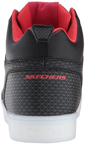 Skechers Energy Lights-Tarvos, Entrenadores para Niños Negro (Black/red)
