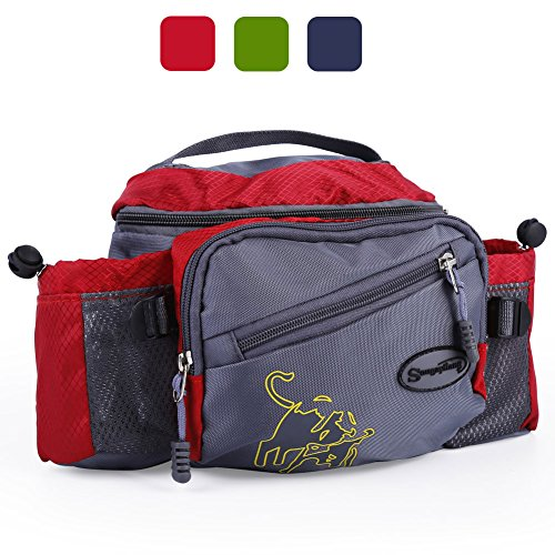 Sougayilang Fishing Tackle Bag Outdoor Waist Bags (Red)
