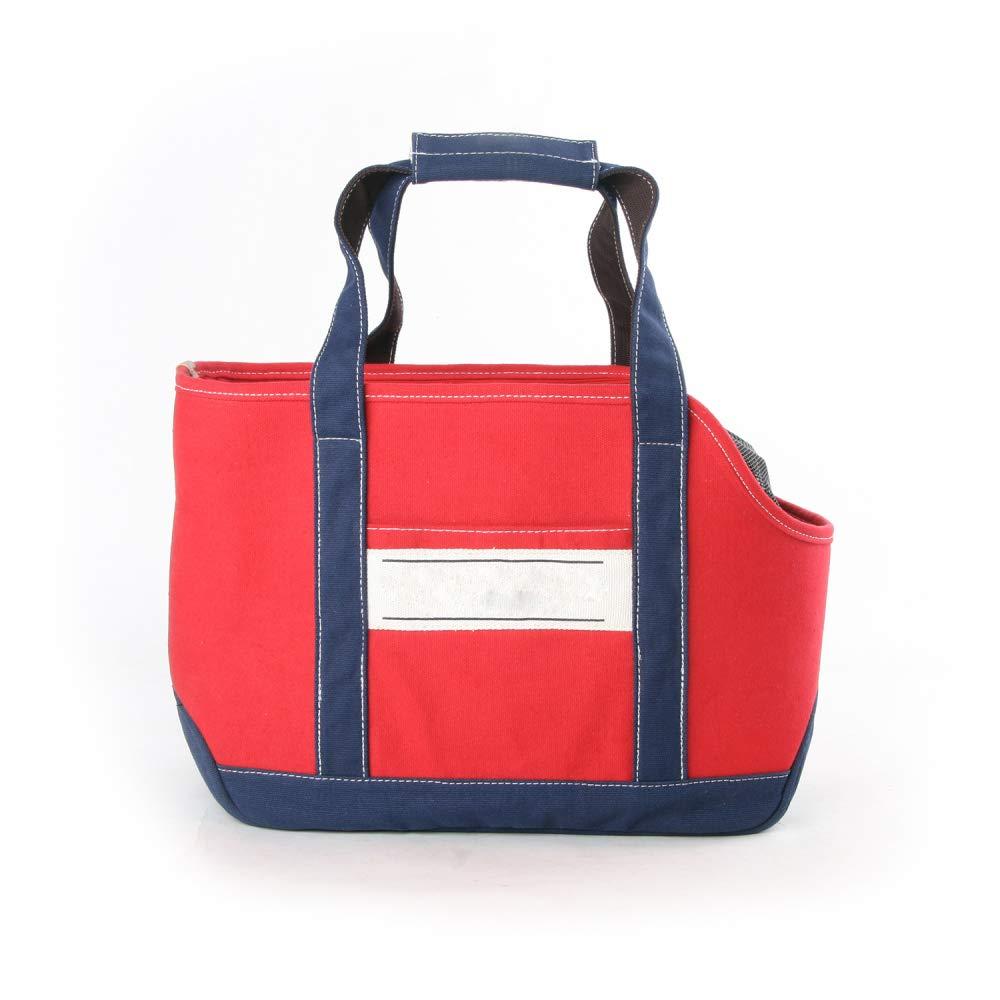 Red AYCC Pet Dog Cat Bag Soft And Comfortable Double-sided Bag Shoulder Carrying Handbag Dog Hiking Backpack,Red