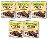 Nature Valley Soft Baked Filled Squares Cocoa Peanut Butter, 5 Bars (5 Boxes)
