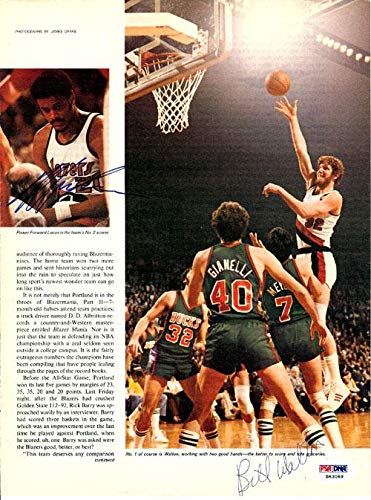 Bill Walton & Maurice Lucas Autographed Magazine Page Photo Portland Trail Blazers #S63069 PSA/DNA Certified