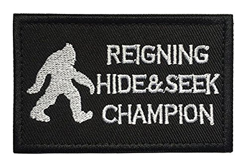 Antrix Bigfoot Reigning Hide and Seek Champion Tactical Military Morale Patch - 3.15x2