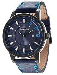 Police Sunset Men's Wrist Watch, Blue