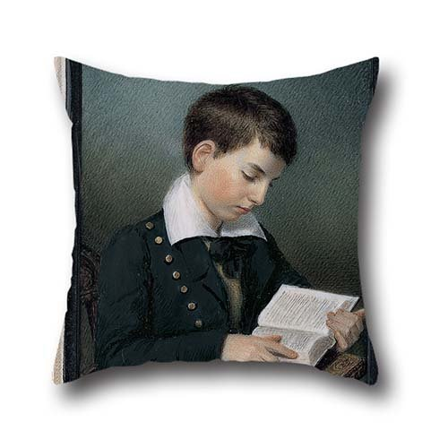 Oil Painting Sarah Goodridge - The Studious Youth (Master Edward Appleton) Throw Pillow Covers 20 X 20 Inches / 50 By 50 Cm Gift Or Decor For Chair,home,family,car Seat,chair,dinning Room - Two (Rage Rubber Wig)