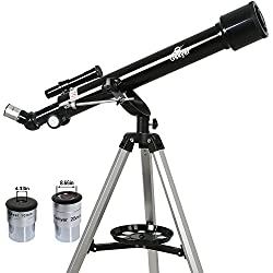 Gskyer Telescope, Instruments Infinity 60mm AZ Refractor Telescope, German Technology Travel Scope