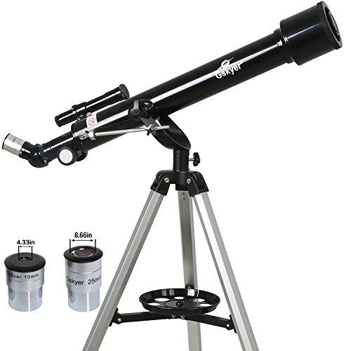 Gskyer Telescope, Instruments Infinity 60mm AZ Refractor Telescope, German Technology Travel Scope by Gskyer