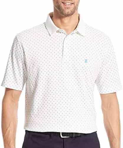 fbd80ec0 IZOD Mens Premium Essentials Diamond Short Sleeve Polo Shirt Large Bright  White